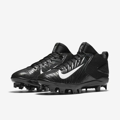 Men's Nike Trout 3 Pro MCS Baseball Cleats - Black/White - NIB!
