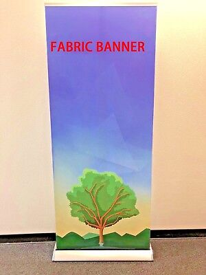 """Retractable 33""""×79"""" Roll up banner stand trade show display+FREE PRINTING"""