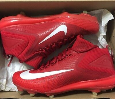 cheaper fd37d 74e74 Mens Nike Zoom Trout 3 Metal Baseball Cleats Red White 856503-667