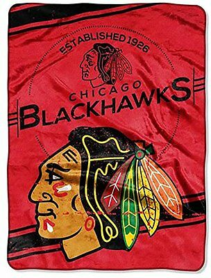 Licensed NHL Chicago Blackhawks Hockey Super Soft Plush Twin Size Throw Blanket