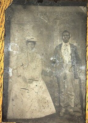 Tintype of African American couple
