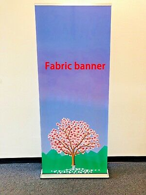 """Retractable premium33""""×79"""" Roll up banner stand trade show display+FREE PRINTING"""