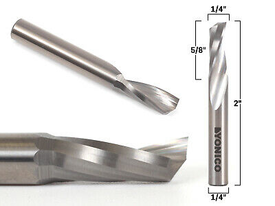 "1/4"" Diameter O Flute Upcut End Mill CNC Router Bit - 1/4"" Shank - Yonico 31013-"