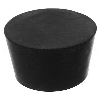 1 Pack - Solid Rubber Stoppers - Size 13.5 - 73mm x 60mm x 41mm - Black #13 1/2