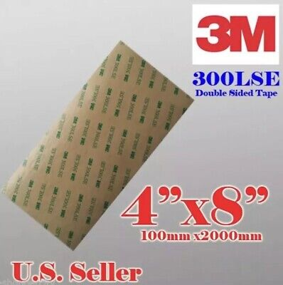 """(2) 3M 300LSE 4x8""""SUPER STRONG DOUBLE SIDED TAPE SHEET PAD - CELL PHONE REPAIRS"""