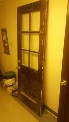 Antique 6 Lite Glass Panel Exterior Door