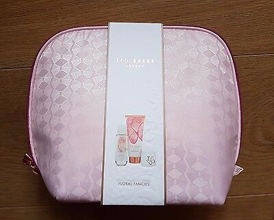 Ted Baker 'floral Fancies' Body Wash Lip Balm Body Spray In  Zipped Cosmetic Bag