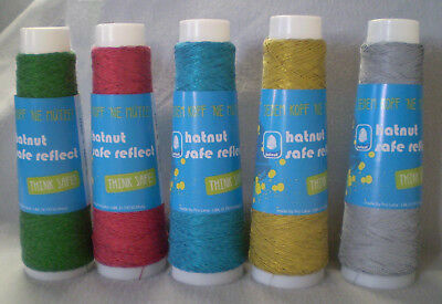 6,50 €/ 100m Hatnut Safe Reflect Reflective Yarn for Knit with Yarns Crochet