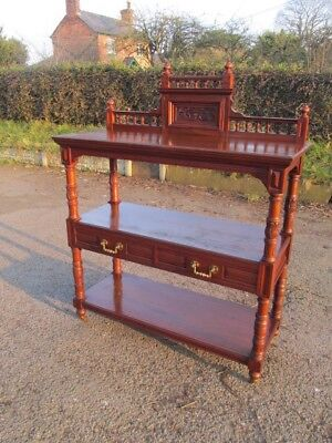 Edwardian walnut Dumb waiter/buffet