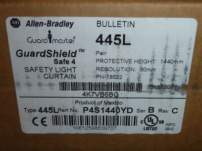 Allen-Bradley GuardShield Safe 4 (445L-P4S1440YD) 445L Safety Light Curtain PAIR