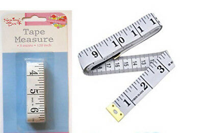 "150cm/300cm Measuring Ruler Sewing Cloth Tailor Tape Measure Soft Flat 60""/ 120"""