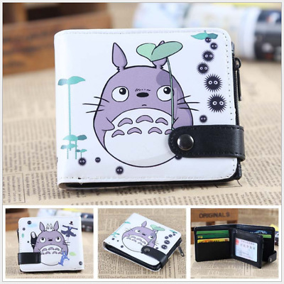New My Neighbor Totoro Short Zipper Wallet Leather pu Purse for Collection