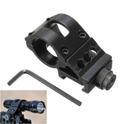 "Tactical 45 Degree 1"" 25.4mm Ring Offset Rail 20mm QD Mount Laser Scope Lights"