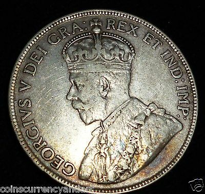 1919  CANADA 50 Cents. Fifty Cents . Half Dollar.  Silver Coin
