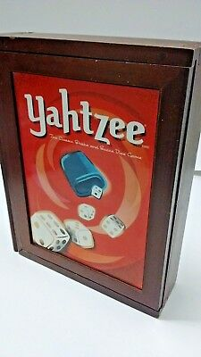 Parker Brothers Vintage Game Collection Wooden Book Box Yahtzee CLUE Bookshelf