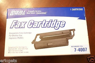 Quill Brother Compatible Fax Film Cartridge, Replaces PC201, Reorder No. 7-4007