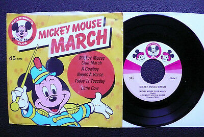 EP Mickey Mouse Club - Mickey Mouse March - Disneyland w/ Pic