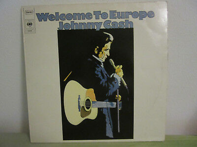 Vinyl-LP << JOHNNY CASH >> Welcome to Europe - CBS 53 658 -  Germany 1975 MINT