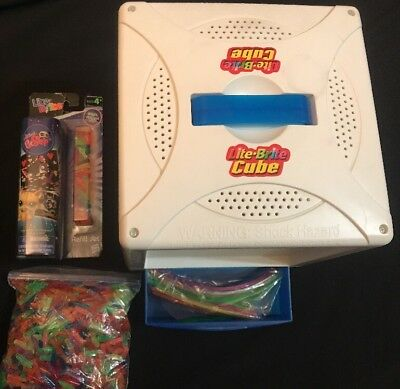 hasbro lite brite cube w lots of pegs littlest pet shop refil design