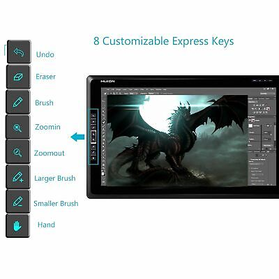 "HDMI Huion 18.4"" Graphics Tablet Monitor Display Screen Pen Art Drawing GT-185"