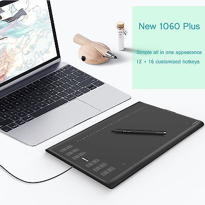 "Huion H610 Pro Graphics Tablet  Drawing Painting Pen 10"" x 6.25"" Artist Gift AU"