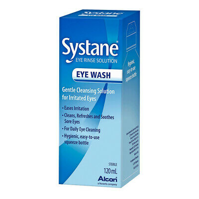 Systane Eye Wash 120ml Gentle Cleansing Solution for Dry Irritated Eyes