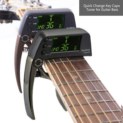 2-in-1 Tcapo20 Guitar Capo Tuner with LCD for Acoustic Folk Electric Guitar Bass