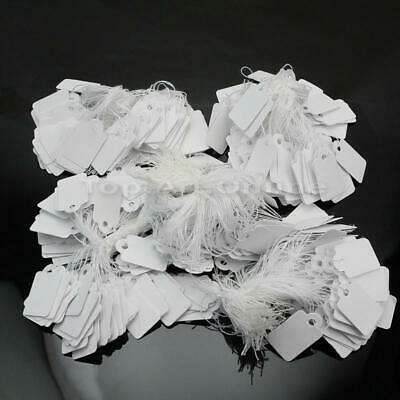TOUCHSTONE 500Pcs String Label Jewelry Pricing Paper Price Tags Chain Tag White