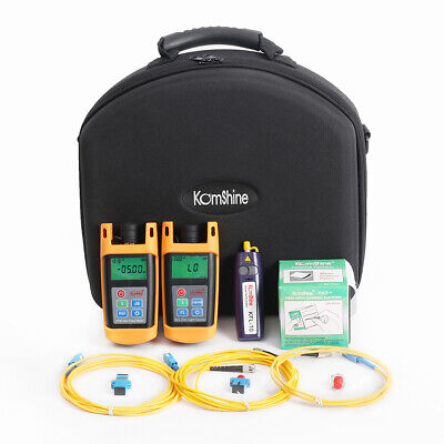FTTx Loss Tester ToolKit w/Fiber Optic Power Meter+Optical Light Source+VFL 1mw