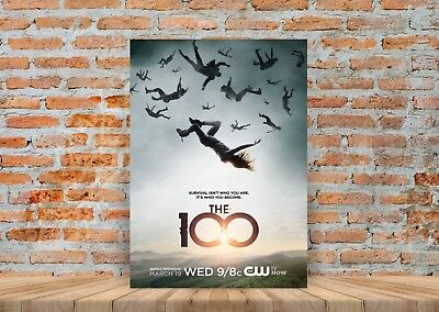 The 100 TV Show Poster or Canvas Art Print - A3 A4 Sizes