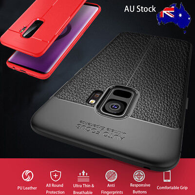 Samsung Galaxy S9/S8 Plus Note 8 Phone Case, Leather Shockproof Cover Heavy Duty