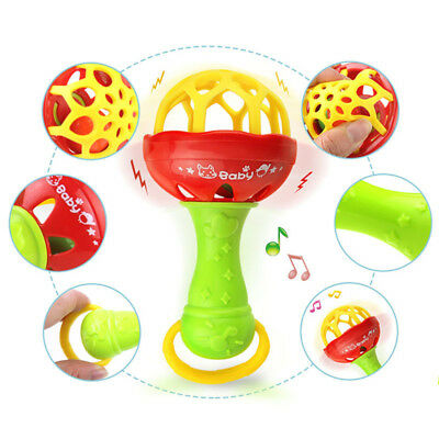 Baby Teether Toys Soft SiliconeTeething Grabbing Rattle Small Maracas Toddlers