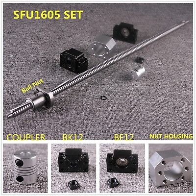 SFU/RM1605 C7 L300-1500mm Ball Screw SET & Ballnut Housing & Couplers & BK/BF12