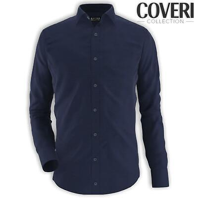 Camicia Uomo Regular Collo Classico 100% Cotone COVERI COLLECTION M L XL XXL