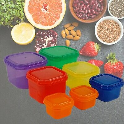 7 Piece Portion Control Container Set Weight Loss Diet Food Tubs Pots Storage UK
