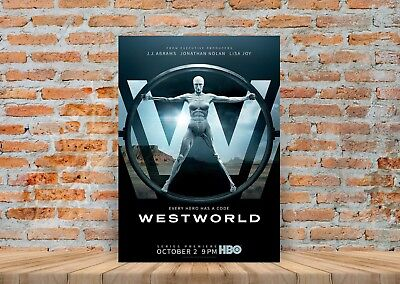 A3 A4 Sizes Westworld TV Show Poster or Canvas Art Print