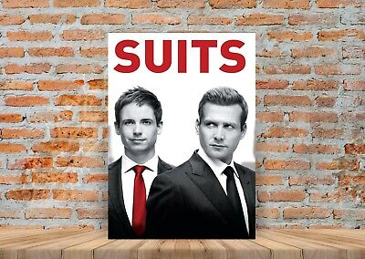 SUITS TV Show Poster or Canvas Art Print  (Framed Option) - A3 A4 Sizes