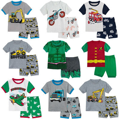 Kids Boys Pajamas Baby Boy Dinosaur Sleepwear Children Hulk Set Summer Nightwear