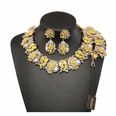 Holylove 6 Colors Crystal Vintage Statement Necklace Earring Bracelet Jewelry