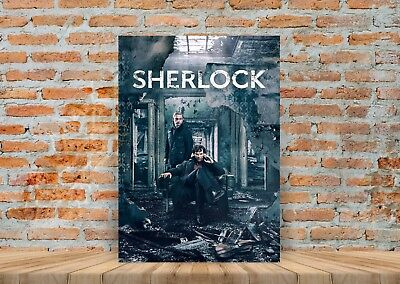 Sherlock TV Show Poster or Canvas Art Print (Framed Option) - A3 A4 Sizes
