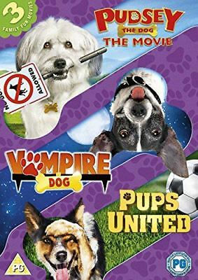 Dogs Triple (Pups United/Vampire Dog/Pudsey The Dog Movie) [DVD]