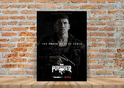 The Punisher TV Show Poster or Canvas Art Print (Framed Option) - A3 A4 Sizes