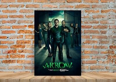 Arrow TV Show Poster or Canvas Art Print (Framed Option) - A3 A4 Sizes