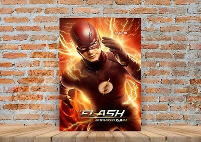 The Flash TV Show Poster or Canvas Art Print (Framed Option) - A3 A4 Sizes