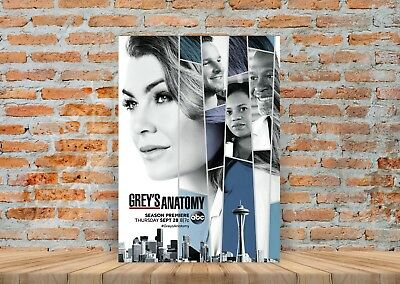 Greys Anatomy TV Show Poster or Canvas Art Print (Framed Option) - A3 A4 Sizes