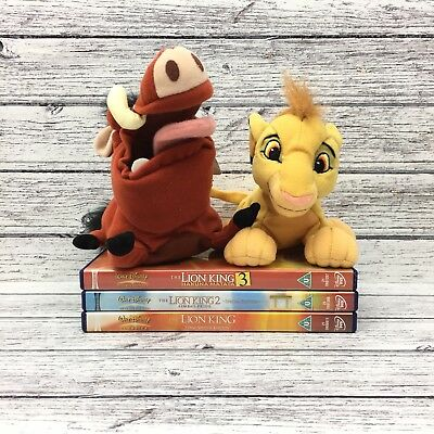 Disney The Lion King DVD special addition Bundle And Soft Plush Toy Simba Pumba