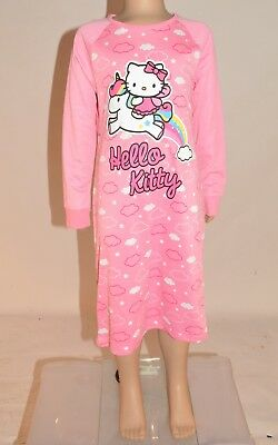M&S Hello Kitty Unicorn Rainbows Nightdress PJs Nighty Nightie Age 2-5 Years A21