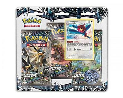 Sun & Moon 5: Ultra Prism - 3 Pack Blister - Englisch - Porygon-Z