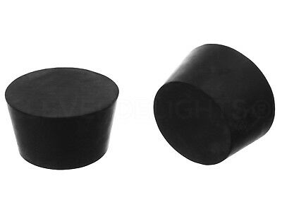 3 Pack - Solid Rubber Stoppers - Size 13.5 - 73mm x 60mm x 41mm - Black #13 1/2