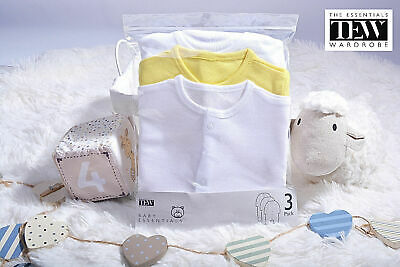 Baby Girls Boys Sleepsuits Babygrow 3 Pack Newborn 100% Cotton 0-18 Months